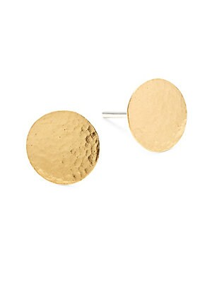 Lush 24K Goldplated Sterling Silver Flake Stud Earrings