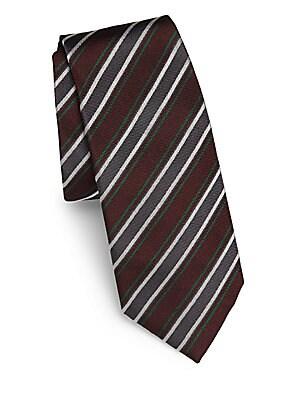 Tonal-Striped Silk Tie