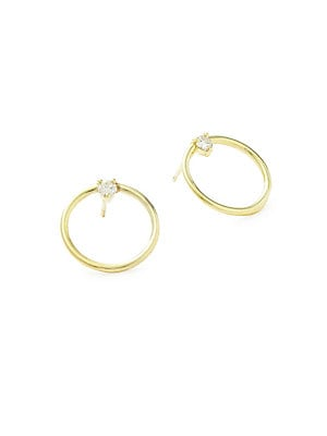 Click here for Remi Diamond & 14K Yellow Gold Hoop Earrings prices