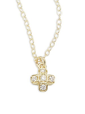 Click here for Lida Diamond & 14K Yellow Gold Pendant Necklace prices