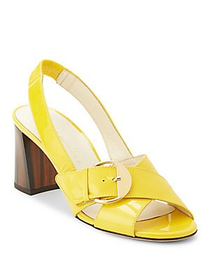 Pepper Patent Leather Slingback Sandals