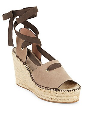 Christina Lace-Up Espadrille Platform Sandals