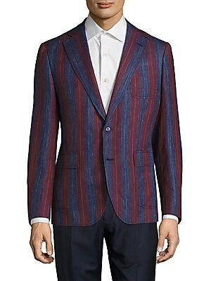 Striped Wool-Blend Jacket