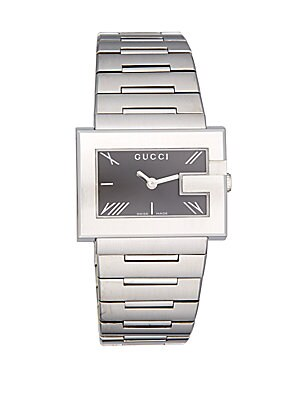 G-Rectangle Stainless Steel Bracelet Watch
