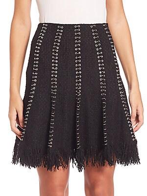 Fringed Wool Skirt