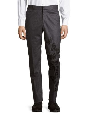 Embroidered Wool Pants Jack Victor