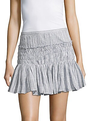 Camilla Smocked Ruffled Skirt