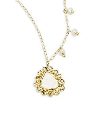 Rough Diamond & 14K Yellow Gold Pendant Necklace
