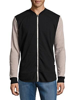 Ransom Long-Sleeve Cotton-Blend Jacket
