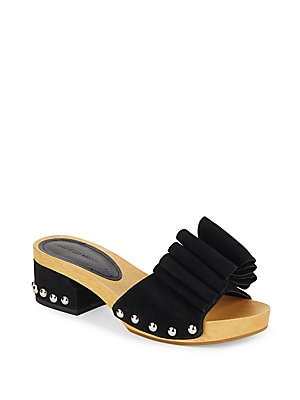 Smaida Suede Slide Sandals