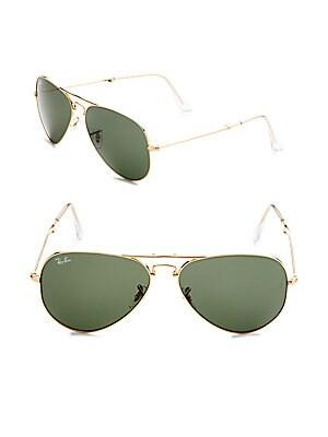 Double-Bridge Aviator Sunglasses