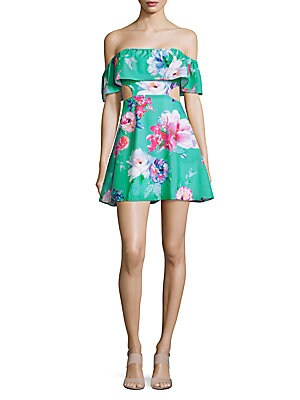 Main Off-the-Shoulder Floral Beach Dress