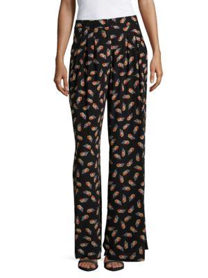 Wide-Leg Printed Pajamas Carolina Herrera
