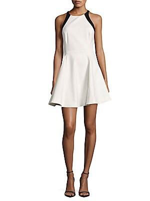 Halterneck Sleeveless A-Line Dress