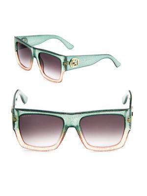 5be9f8da114 Gucci Glitter Two-Tone Wayfarer Sunglasses In Green