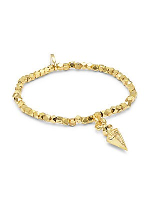 18K Gold & Sterling Silver Stretch Bracelet