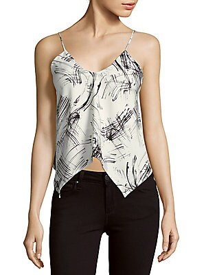 Dialogue Printed Asymmetric Camisole