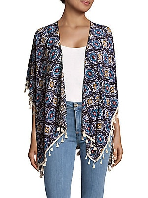 Geometric Printed Cape