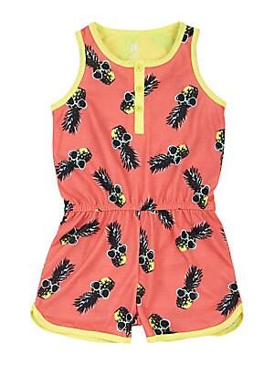 Girl's Pineapple Summer Romper