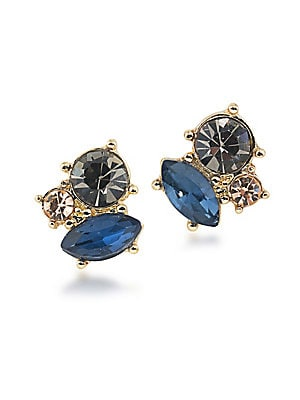 Somewhere To Be Goldtone Cluster Stud Earrings