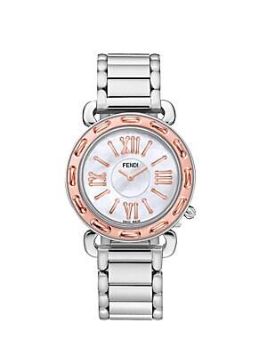 Selleria Mother-Of-Pearl Analog Bracelet Watch