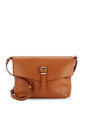 Maisie Leather Textured Shoulder Bag