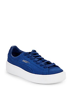 Leather Lace-Up Sneakers