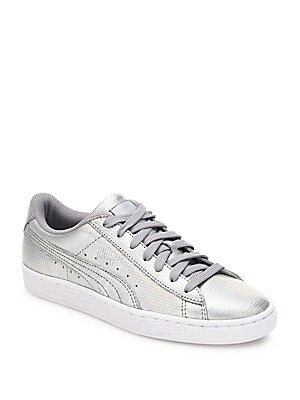 Basket Holographic Leather Sneakers