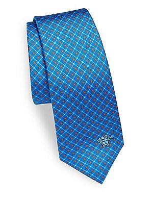 Logo Printed Silk Tie