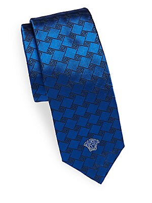 Logo Printed Italian Silk Tie