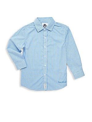 Boys MicroCheck LongSleeve Shirt
