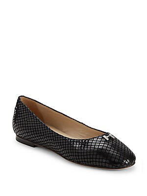 Textured Leather Flats