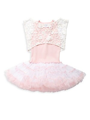 Little Girl's & Girl's Tutu Dress & Floral Lace Jacket