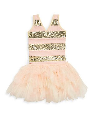 Little Girl's & Girl's Sleeveless Sequined Dress