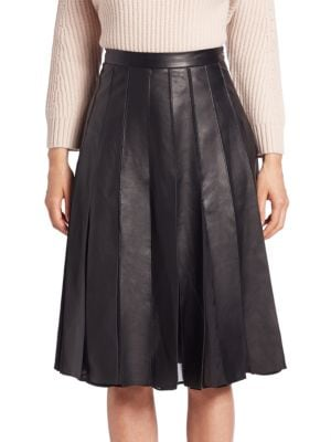 Melita Godet Leather Skirt Diane von Furstenberg