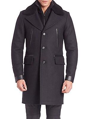 Wool Grovewood Shearling Coat