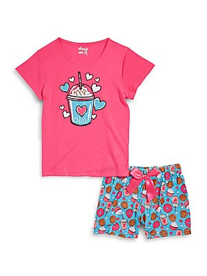 Girls Two-Piece Printed Pajama Set