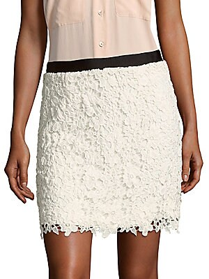Mimi Crochet-Lace Skirt