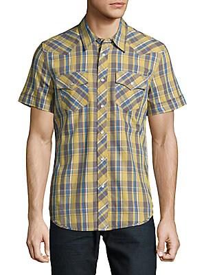 Jasper Windowpane Cotton Shirt