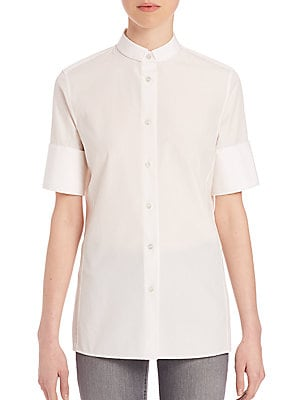 Short-Sleeve Cotton Poplin Shirt