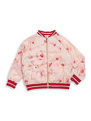 Little Girl's Rose Bomber Jacket