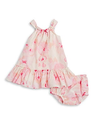 Baby's Floral Dress and Bloomers Set
