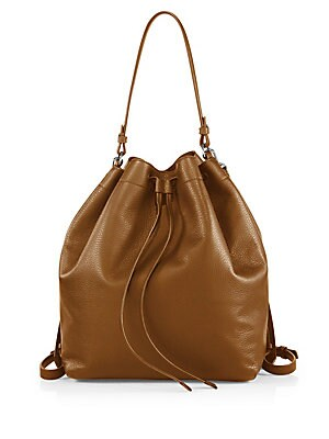 Park Medium Drawstring Leather Shoulder Bag