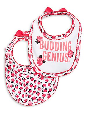Baby Girls Two-Pack Bib Set