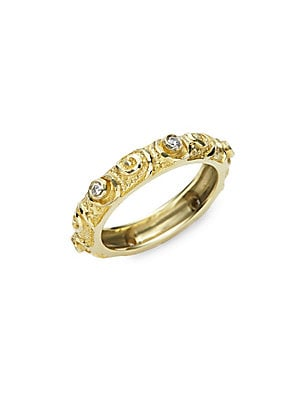 Click here for White Diamond & 14K Yellow Gold Ring prices