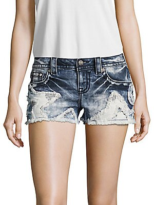 Whiskered Star Patched Shorts