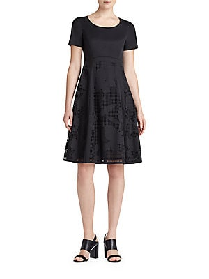 lafayette 148 new york female doreen stretchcotton fitandflare dress