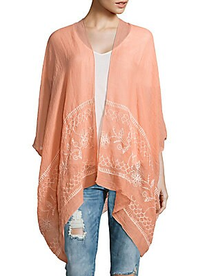 Floral-Embroidery Cover-Up