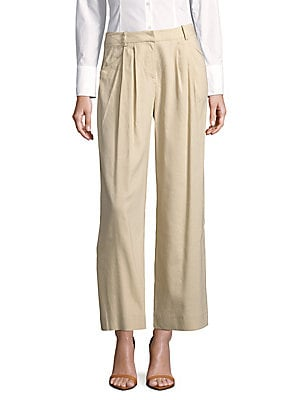 lafayette 148 new york female cropped wideleg pants