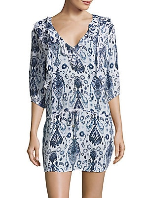Aisha Printed Ruffled Dress
